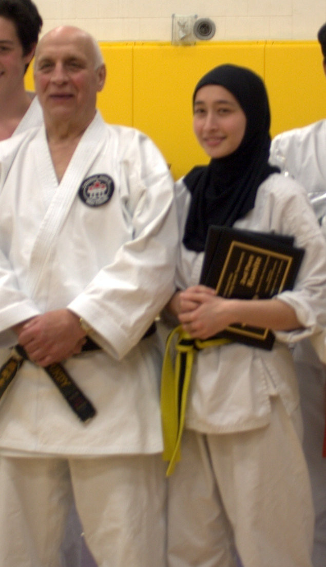 Hanshi Jay Purdy with CCVI Karate Student