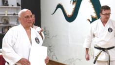 C.N.G.K. Chief Instructor and Head Adjudicator, Hanshi J. Purdy, Recognized for Lifetime of Dedicati
