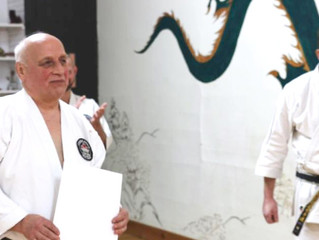C.N.G.K. Chief Instructor and Head Adjudicator, Hanshi J. Purdy, Recognized for Lifetime of Dedicati