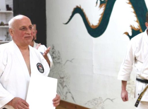 C.N.G.K. Chief Instructor and Head Adjudicator, Hanshi Purdy, Recognized for Lifetime of Dedication