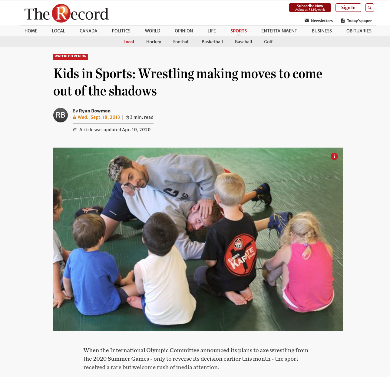 Kids in Sports:  Wrestling makes moves to come out of the shadows