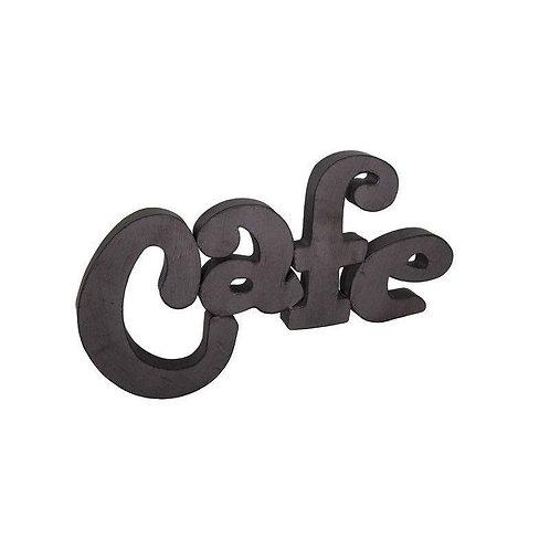 """Mot """"Café"""" en tôle"""