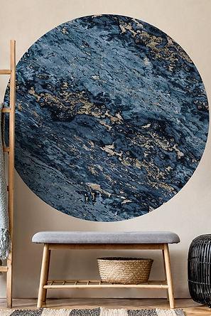 papier-peint-rond-marbre-sarrancolin-ble