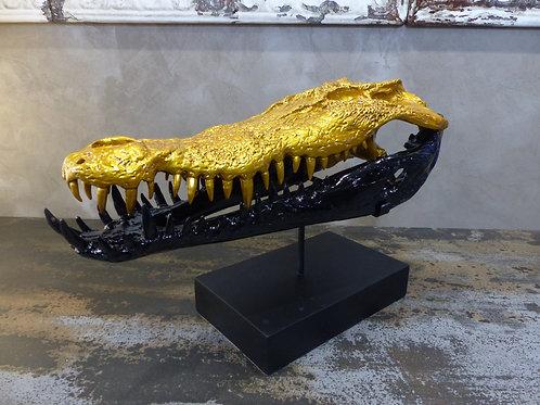 Tête de crocodile décorative