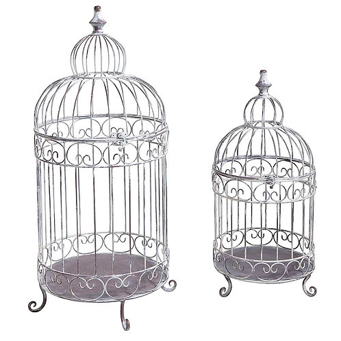 Lot de cages à oiseaux