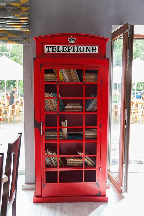"""Bibliothèque """"Cabine téléphonique"""""""