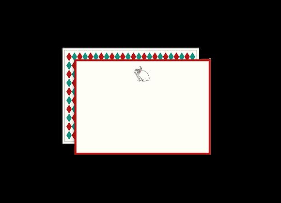 Harlequin Correspondence Cards