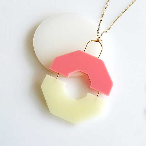 Split Necklace Pink