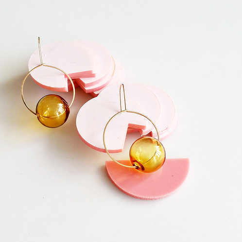 Round & Round Earrings Yellow