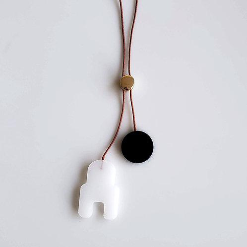Cutout Bolo Necklace