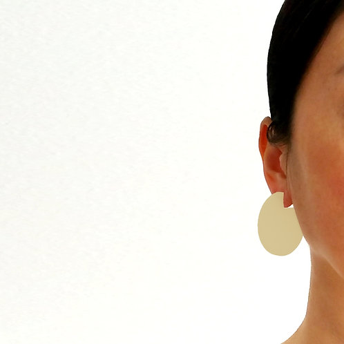 Cir Cutout Earrings Ivory