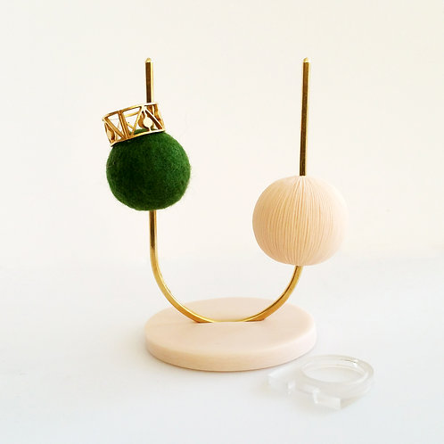 Dots Ring Stand_Green