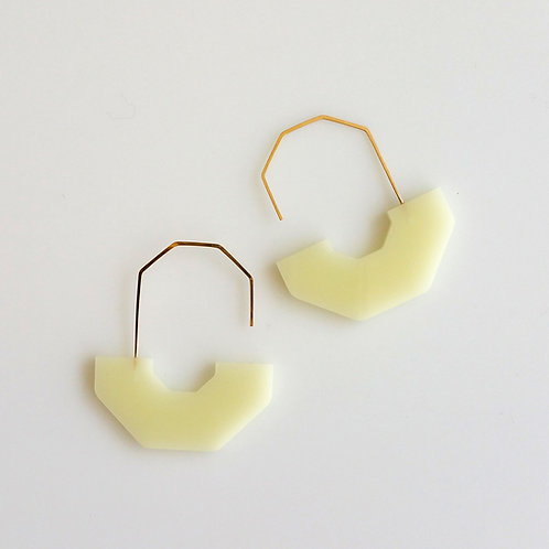 Hex Arch Earrings Cream