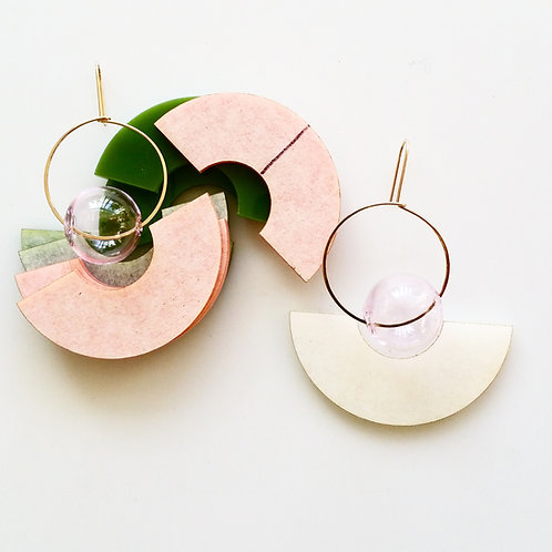 Round & Round Earrings Pink