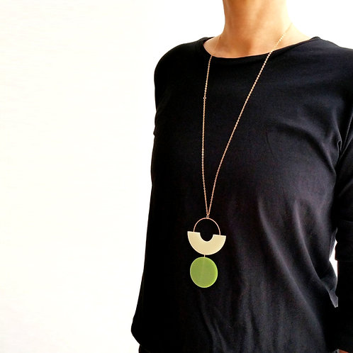 Shapes Play Necklace Green