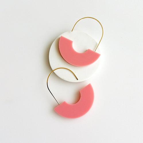 Arch Earrings Pink
