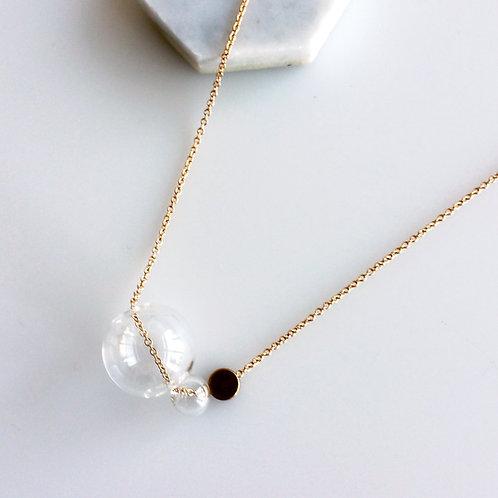 Disk & Bubbles Necklace