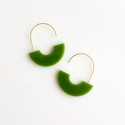 Arch Earrings Green