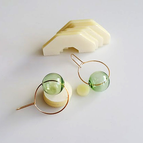 Round & Round Earrings Green