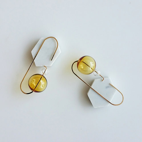 Loop Earrings No. 2 Yellow
