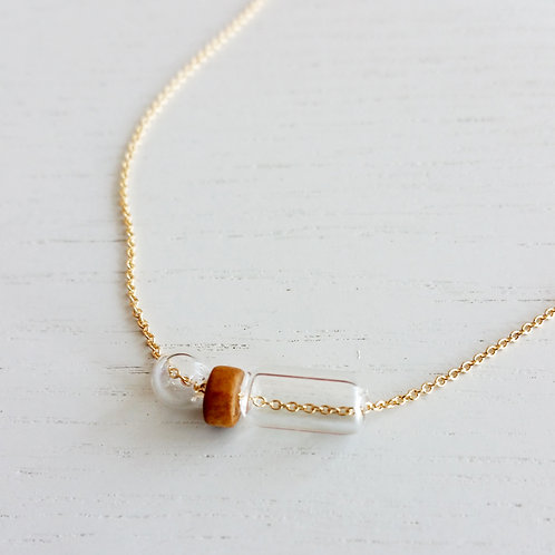 Wood & Bubbles Necklace