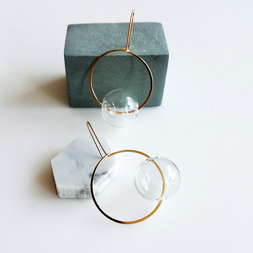 Round & Round Earrings Clear