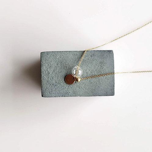 Circle & Bubble Necklace