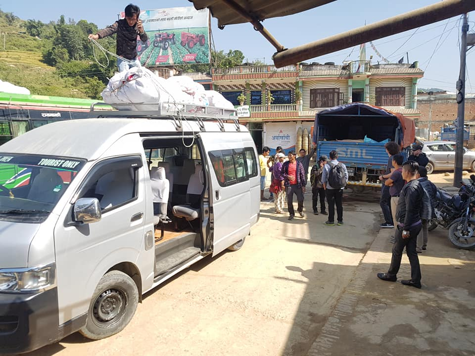 load van w/ supplies Church purchase