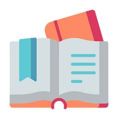 Vector image of a book