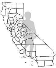 Line drawing of California counties