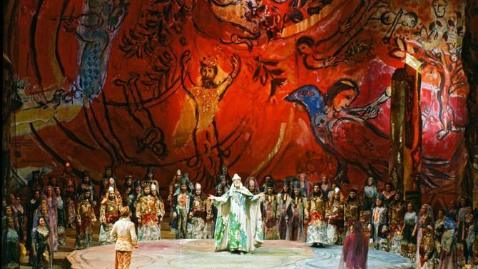 Chagall revelando seu lado teatral