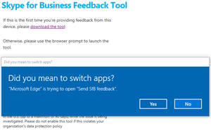 Skype for Business Client Feedback Reporting Tool