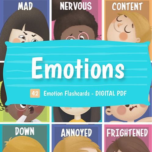DIGITAL DOWNLOAD PDF Emotions Flaschcards | 35 Printable Cards