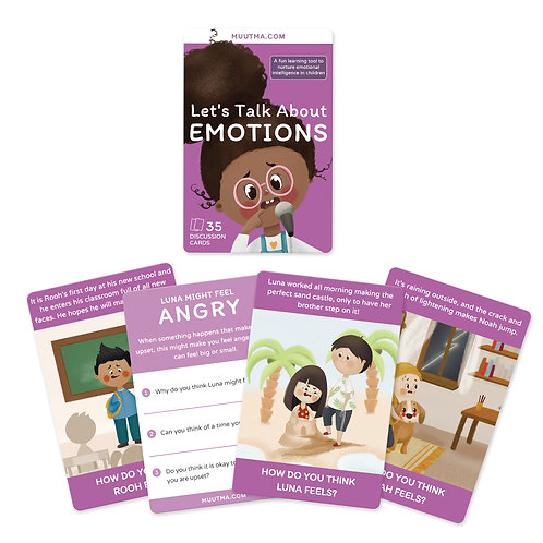 Emotions Flashcards for Kids | Let's Talk About Emotions | 35 Cards