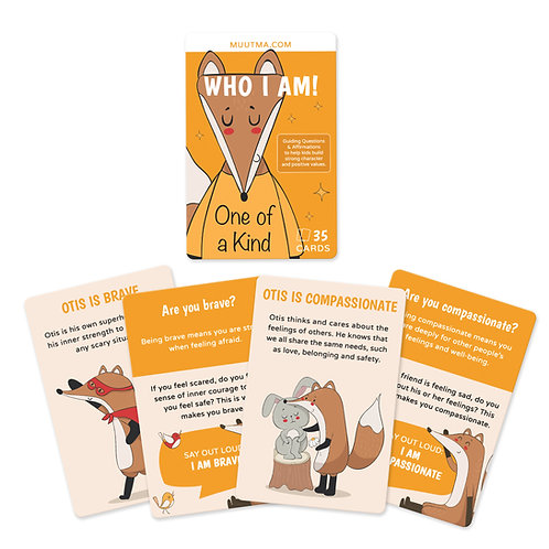 Who I Am! Affirmations & Guiding Questions Card Deck