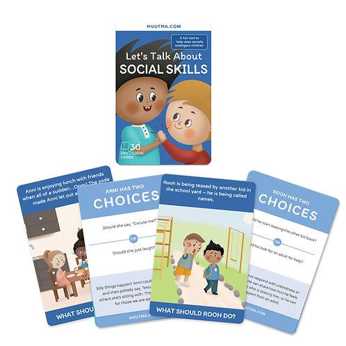 Let's Talk About Social Skills | Social Skills Flashcards for Kids