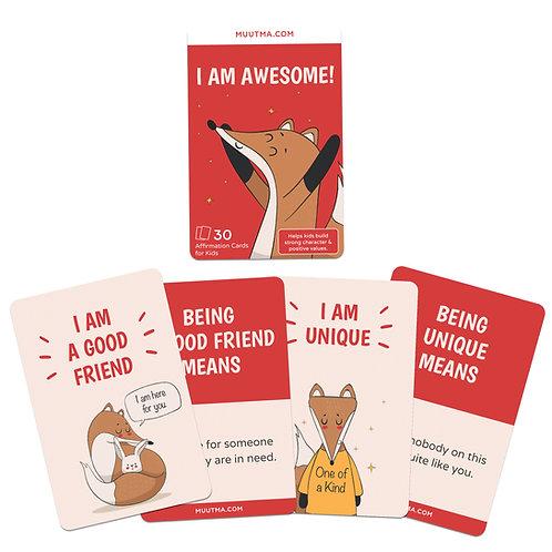 I am Awesome! | Positive Affirmation Flashcards for Kids