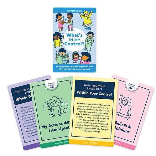 Control Flashcards | Exploring What is Within & Outside Our Control | 32 Cards