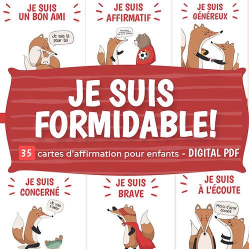 DIGITAL DOWNLOAD PDF FRENCH Affirmation Cards for Kids | 35 Printable Cards