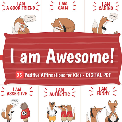 DIGITAL DOWNLOAD PDF Positive Affirmation Flashcards - Printable Cards