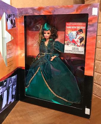 Барби Скарлетт О'Хара Изумрудное Платье из гардин 1994