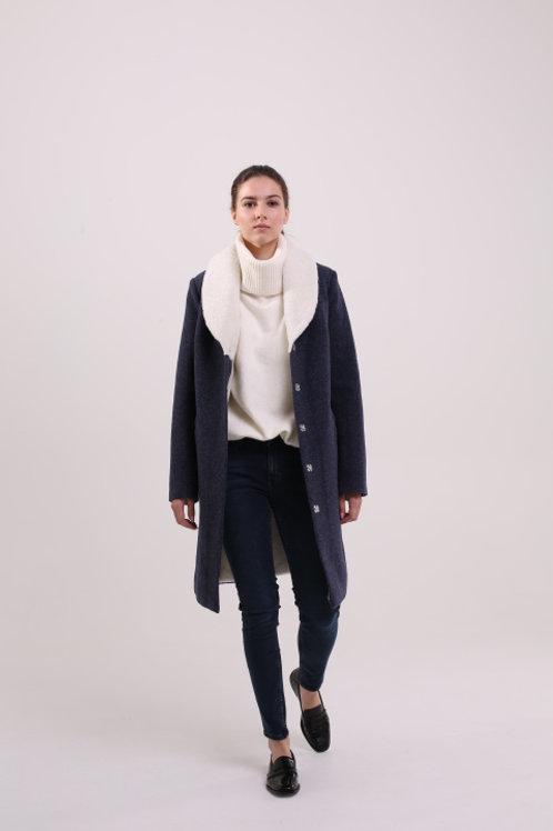 Пальто с мехом  №21