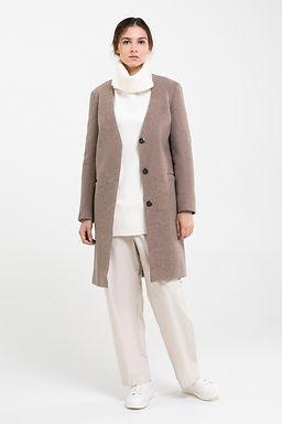 Пальто из шерсти валеной №21