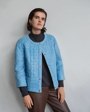 Куртка из стеганной кожи