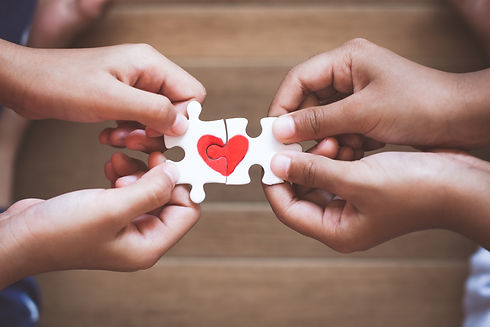 helping hand, missing piece of puzzle, healthy heart, teamwork