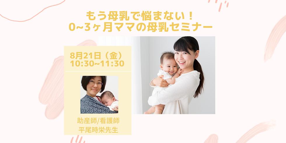 もう母乳で悩まない!0~3ヶ月ママの母乳セミナー