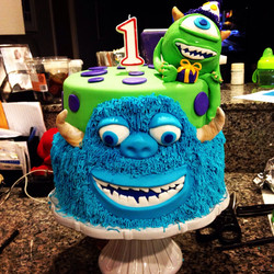 Mike & Sully birthday cake