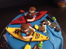Kayaking Anniversary cake