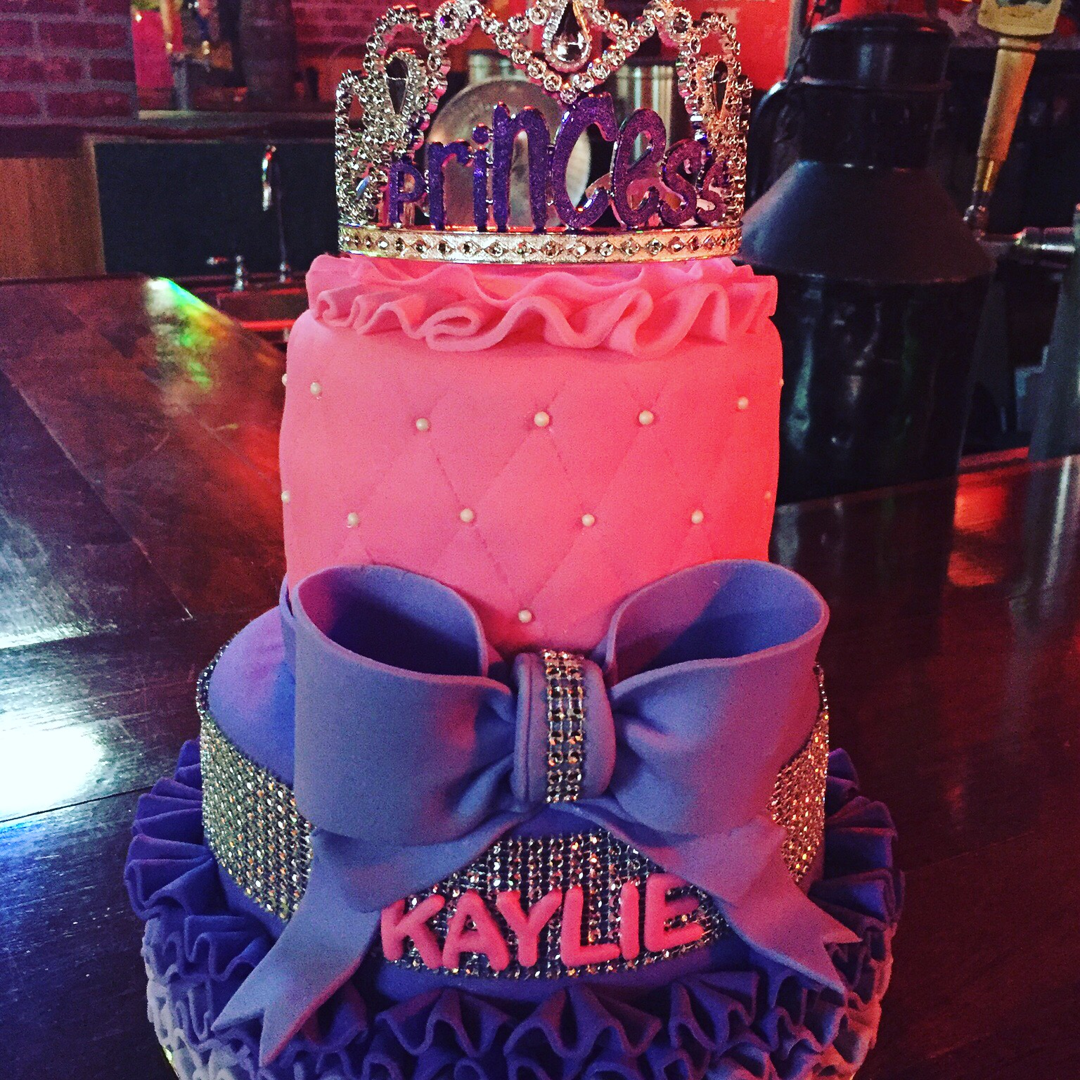 Princess bling cake