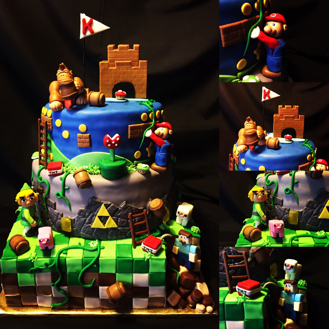 Flash back video game cake